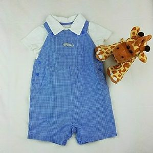 HP!💕Matching Set of Overall and Polo onesie 18M